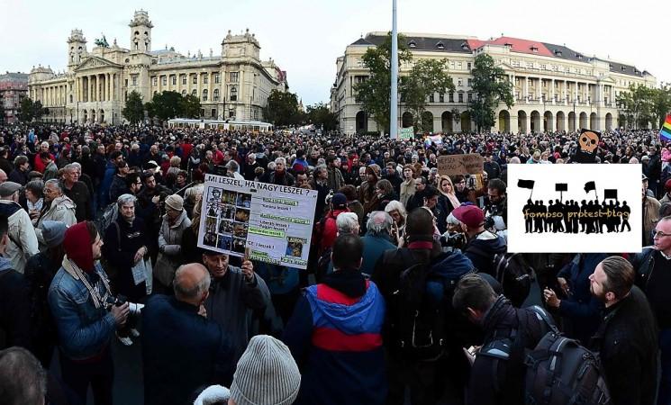 Proteste gegen die Schließung einer oppositionellen Zeitung in Ungarn