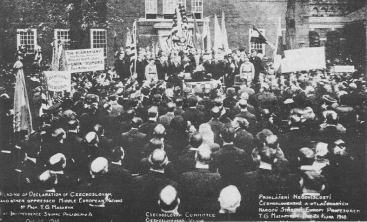 Tschechoslowakische Unabhängigkeitserklärung am 28. Oktober 1918