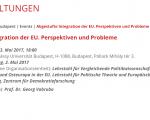 """Beginn der Ringvorlesungsreihe """"Die Krise Europas"""""""