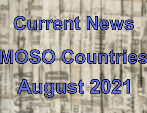 Current news from certain MOSO countries (August 2021)