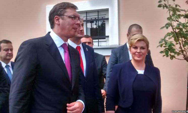 Historisches Treffen von Aleksandar Vučić und Kolinda Grabar-Kitarović
