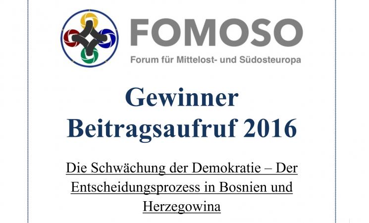 Schwächung der Demokratie – Der Entscheidungsprozess in Bosnien-Herzegowina