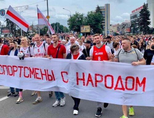 Protestbewegung von belarussischen Sportlern