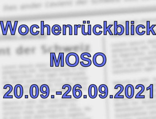 Wochenrückblick: Kurznachrichten aus den MOSO-Ländern (20.09. – 26.09.2021)